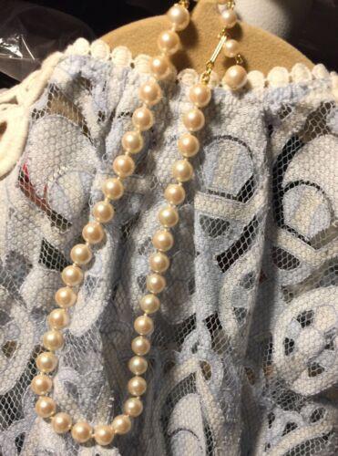 "Vintage Marvella 16"" Single Strand Of Pearls Preow"