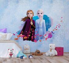3,69€//1qm Disney Tapete Frozen Eiskönigin Anna Elsa Kindertapete lila R3024-1