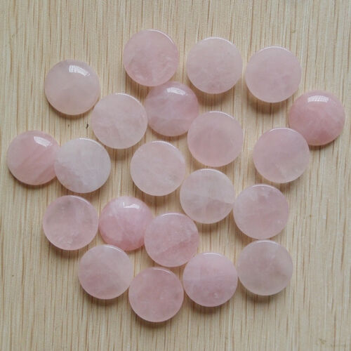 Fashion Natural rose quartz stone round CABOCHON beads 30pcs//lot wholesale 20mm