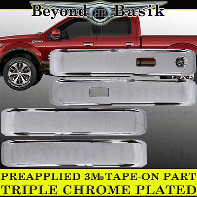 AAL FORD F-150 F150 2015~2017 Chrome Covers 4 Door Handles+Back Plates+Tailgate