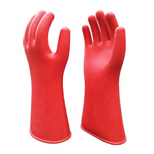 Electrical Insulated Lineman Rubber Gloves Electrician High Voltage Hand Shape