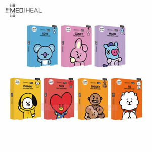 MEDIHEAL-BT21-Face-Point-Mask-1Pack-7types-4sheets-Free-Gift-Korean