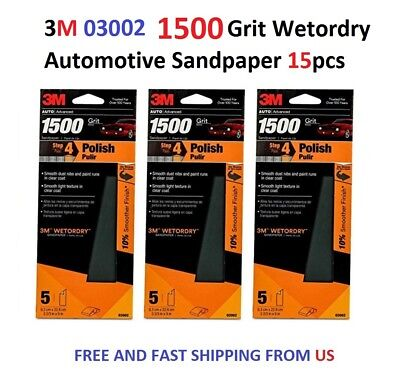 3M 03002 Imperial Wetordry 3-2//3 x 9 1500 Grit Automotive Sandpaper