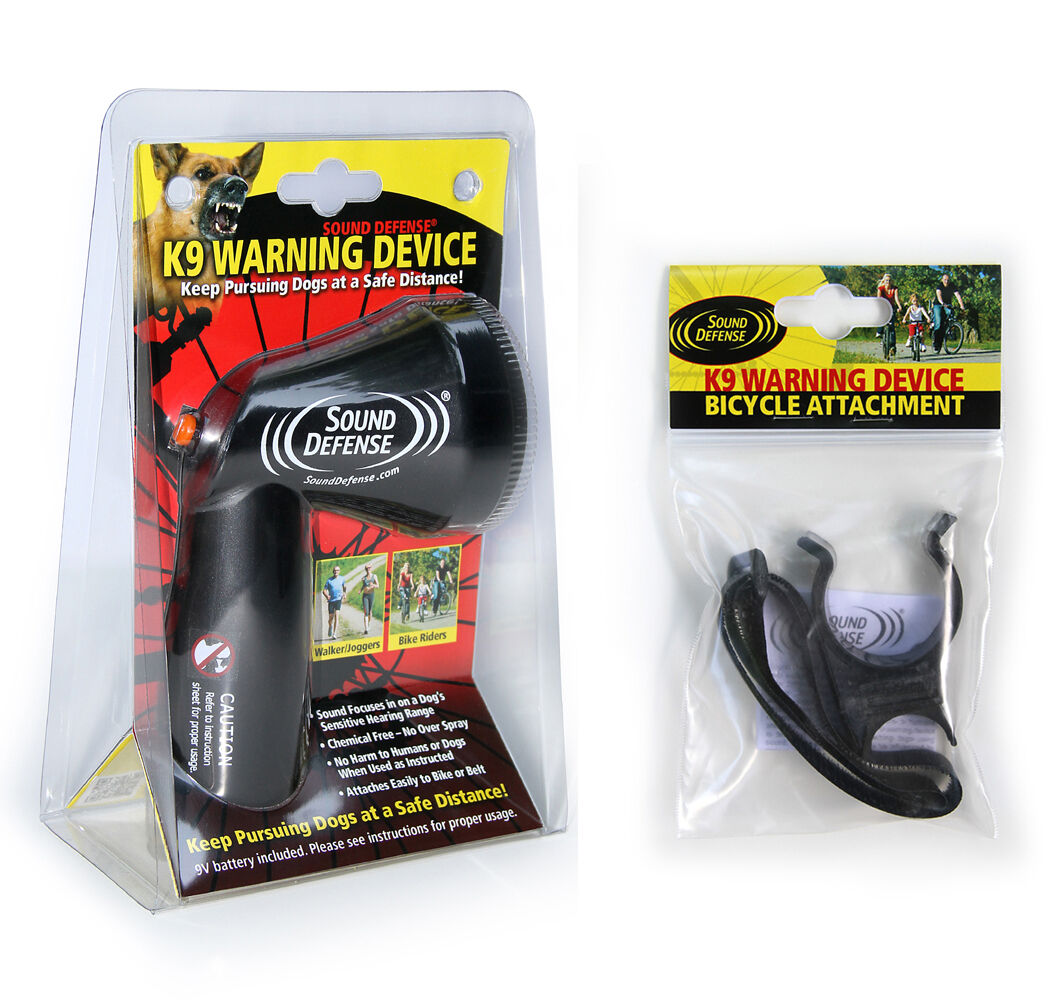 Aggressive Dog Deterrent Sound Defense K9 Warning Device & Bike Mount Set