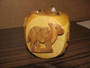 Holz Kerzenhalter Würfelform für 7 Kerzen - Geburtstag  - Vintage