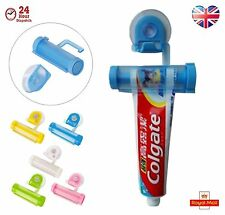 Toothpaste Dispenser Rolling Squeezer  Holder Hanging Hook Suction Plastic dgs