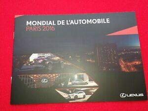 Lexus Prospectus Paris 2016 Press Kit Weltpremiere Ux Concept / Is Brochure