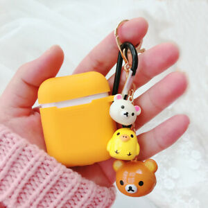 Airpods Case Cute Rilakkuma Doll Shockproof Cover For Apple Bluetooth Earphones Ebay