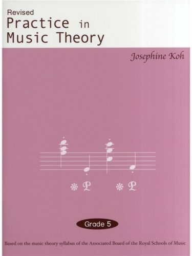 Practice In Music Theory Grade 5 Education Tutor SHEET MUSIC BOOK J Koh