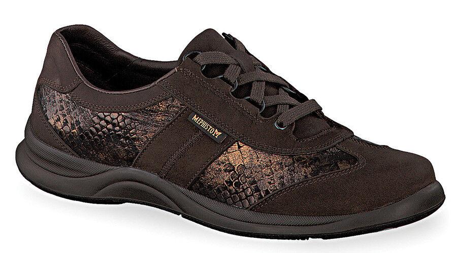 NEW Sneaker, Mephisto Laser Brown/Bronze Oxford Sneaker, NEW Donna Size 6.5 63e6bf