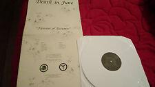 DEATH IN JUNE CURRENT 93 SOL INVICTUS FLOWERS OF AUTUMN WHITE VINYL  CONDITION