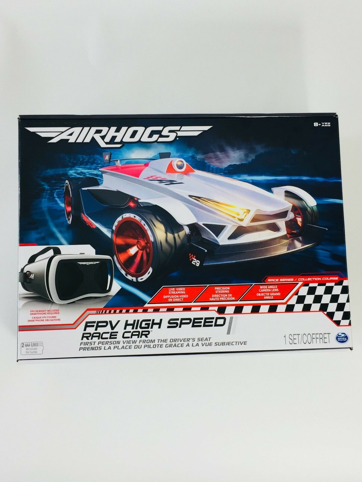 Air Hogs FPV High Speed Race Car w/ Headset and SmartPhone app (New 99)