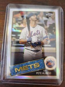 Pete Alonso 2020 Topps Chrome Ben Baller Mets 1985 85 85TC-18 Refractor Insert