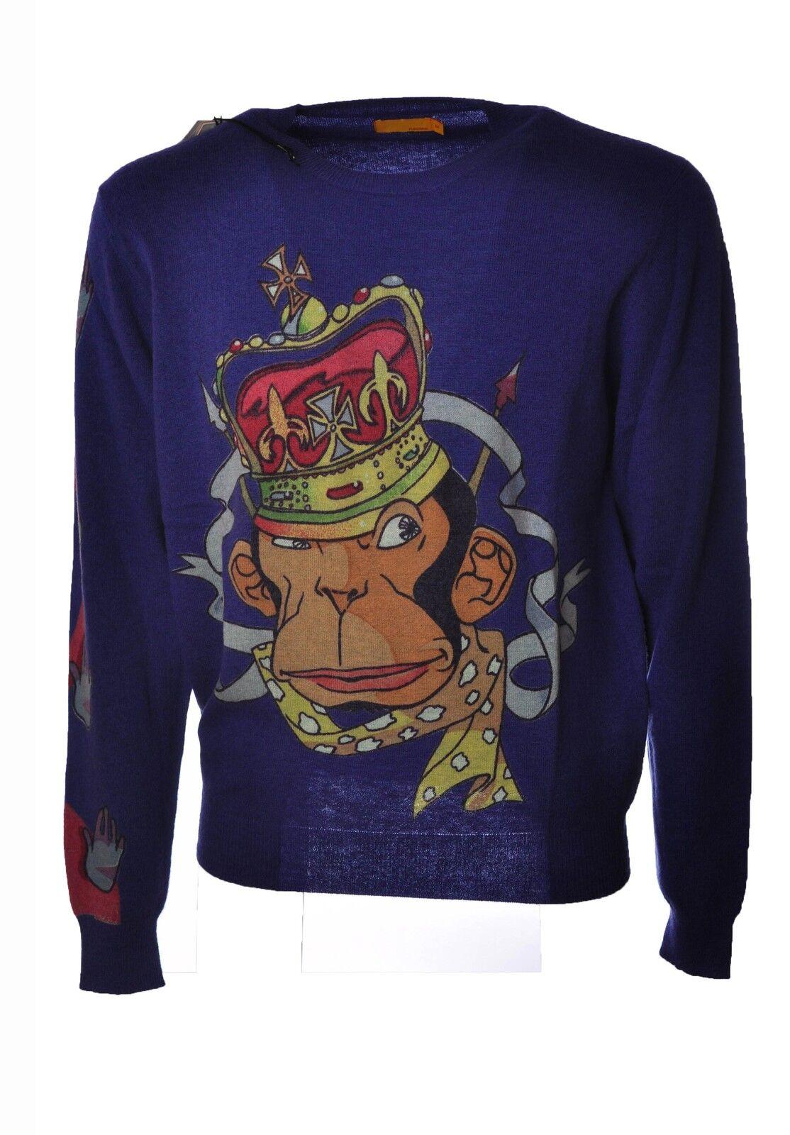 Pureskin  -  Sweaters - Male - Blau - 3723028A181215