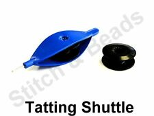 Pont Tatting Shuttle With Hook & Spare Bobbin Hand Lace Making Colours May Vary