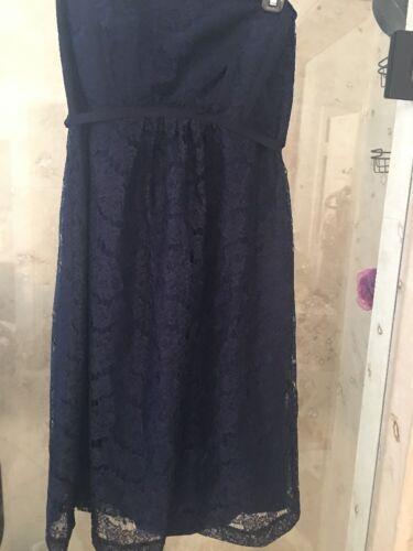 Blu New Tie Navy Waist Maternity M In The Pod Pea Lace Dress 175 Nwt wx1BAvw8