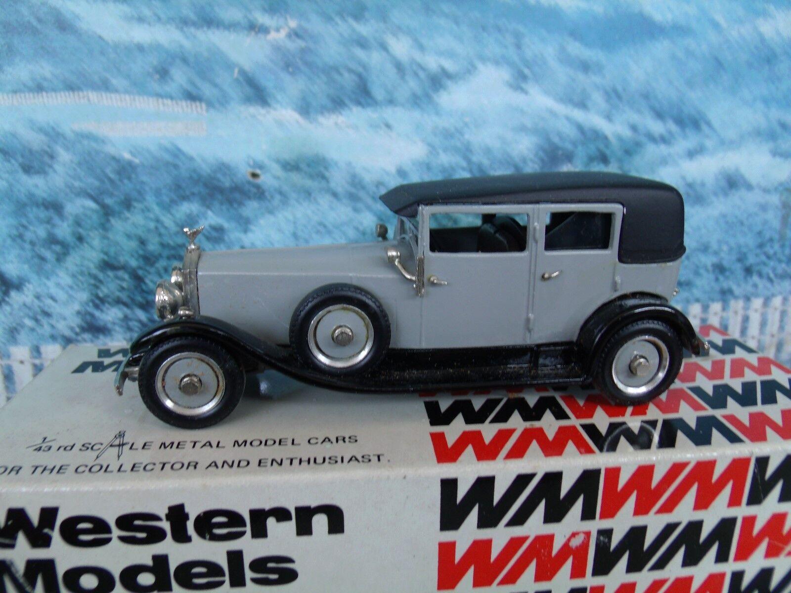 1 43 modelos occidentales (Inglaterra) 1927 Rolls Royce Weyman Saloon De Metal biancao WMS36