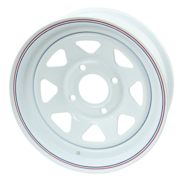 "VW BUG BAJA WHITE SPOKE STEEL WHEELS 4 LUG 15X8""  2"" BACK SPACE  10-1005"