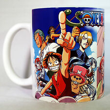ONE PIECE - Coffee MUG CUP - Anime - Manga - Shonen Jump - Straw Hats - Luffy