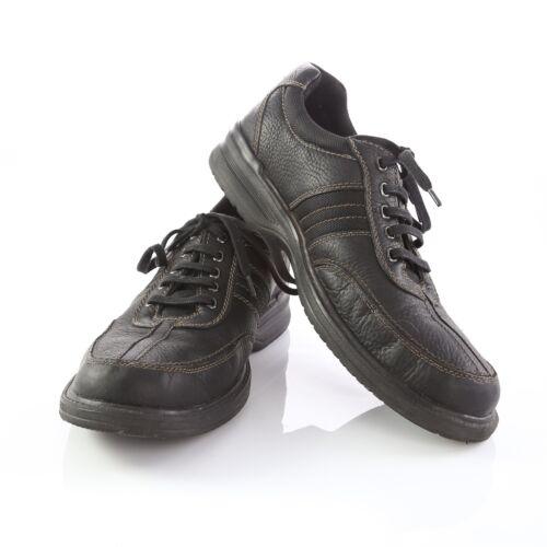 Clarks Black Leather Split Toe Fashion Sneakers Ox