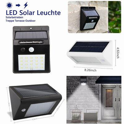 4 X40LED Wandleuchte Solarleuchte mit Bewegungsmelder Außenlampe Gartenlampe PIR