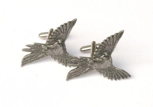 Parrot Gemelos Peltre Hecho en Reino Unido en caja de regalo o Pouched Descuento Por Cantidad