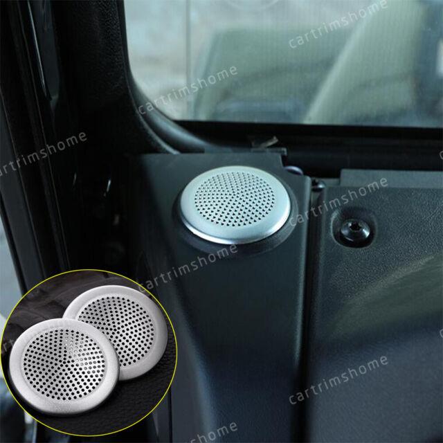 2PCS Carbon Fiber pillar Door Tweeter Speaker Cover Trim For Ford Mustang 15-18