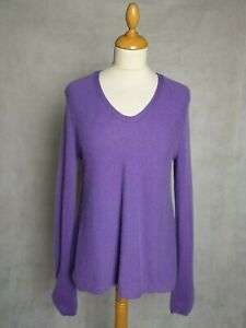 Garnet-Hill-Lose-Fit-Sweater-in-Light-Purple-in-100-Cashmere-M-34-034