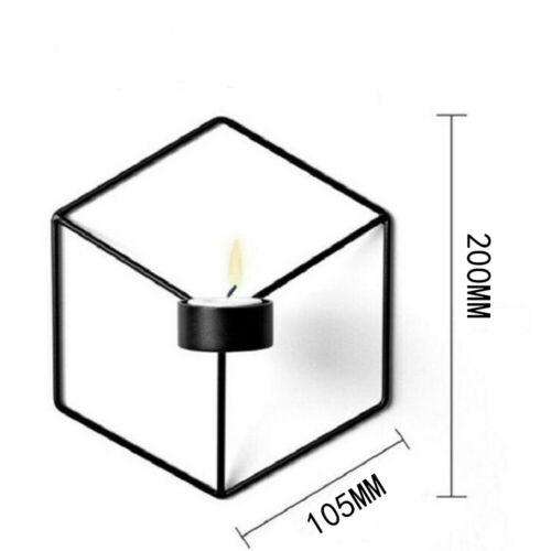 Geometric Candlestick 3D Metal Wall Candle Holder Sconce Home Decor Nordic AM5Z