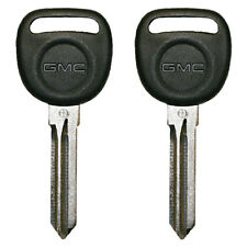 2 Circle Plus Transponder Chip Keys for GMC Sierra, Tahoe, Acadia Savanna