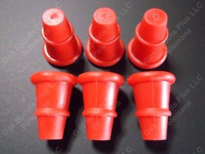 6-Pk EAGLE SPOUT PLUGS New Red Repl Replica for Eagle Rubber /& Rigid Gas Spouts