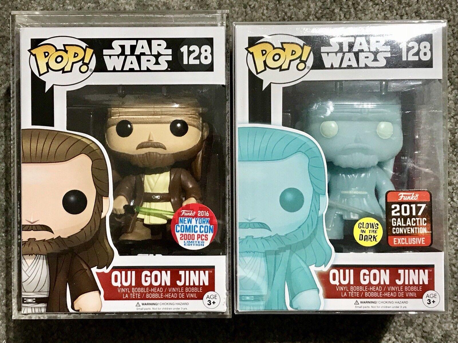 Pop Qui Gon Jinn Funko NYCC 2016 LE 2000Pcs & 2017 Galactic Convention Star Wars