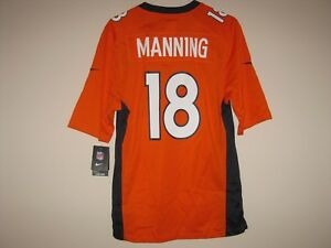 the latest 13e76 c4b5f Details about NEW NIKE PEYTON MANNING DENVER BRONCOS ORANGE COLOR RUSH  JERSEY MENS SMALL S
