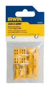 NEW-Irwin-Quick-Grip-Replacement-Pads-4pk-Plastic-For-2-amp-4-034-Handi-Clamp-1826580