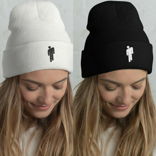 Billie Eilish American Singer Stickman LOGO Beanie Knit Hat Stretchy Cap