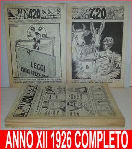 420-SETTIMANALE-POLITICO-SATIRICO-Anno-XII-1926-COMPLETO-1-Nerbini