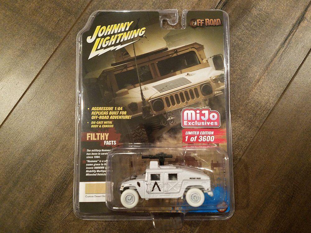 tienda Johnny Lightning 1 64 Off-Road Militar Traje de Policía Policía Policía Humvee jlcp 7158 Chase coche  autorización oficial