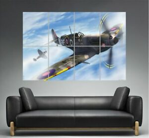 SPITFIRE plane vinyl wall art QUOTE sticker bedroom aeroplane war army