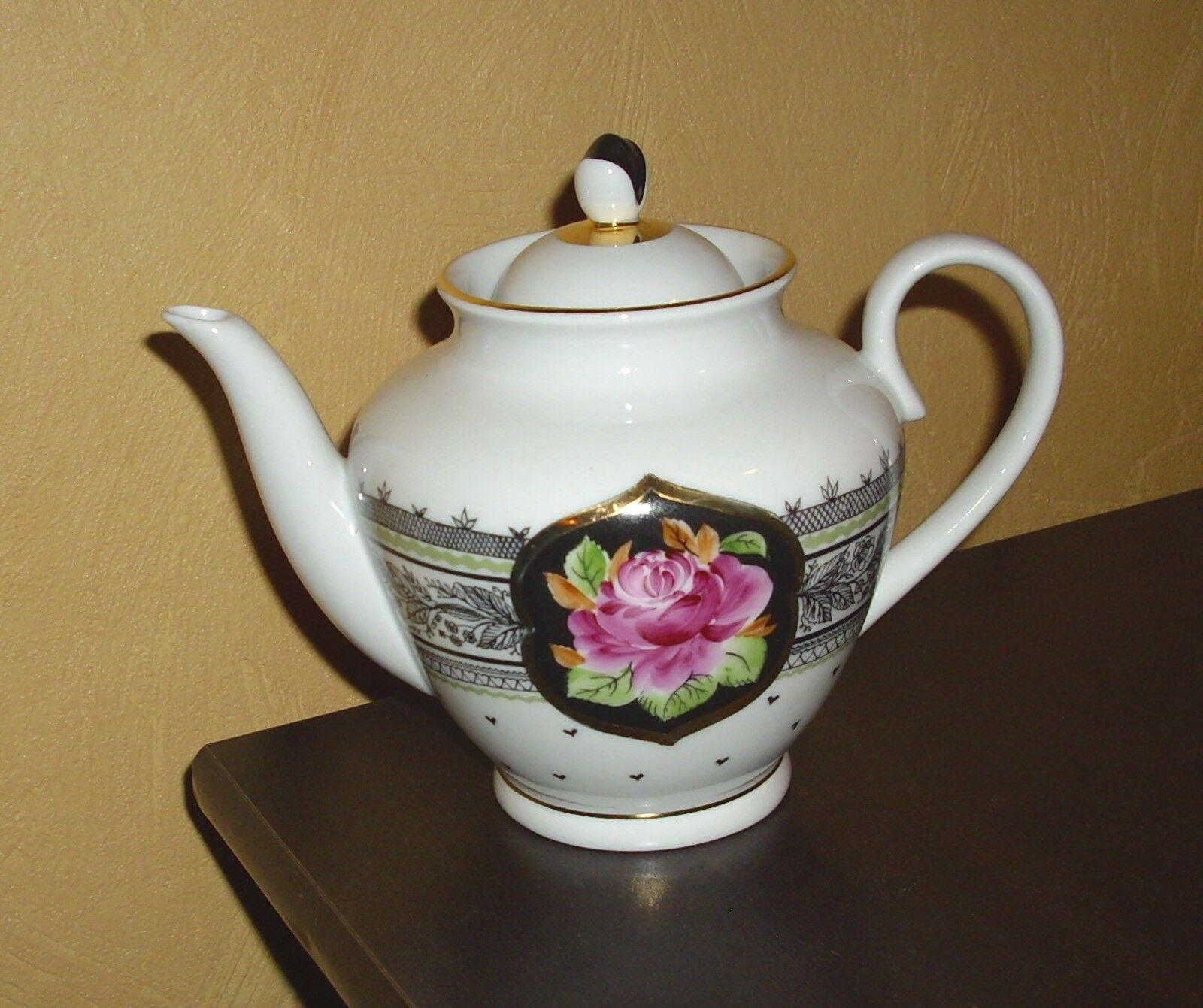 Lomonosov 1 1 1 Kaffee Oder Teekanne Blaumen Und Golddekor 997298