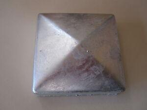 25x Pfostenkappe Edelstahl 71 mm Pyramide Abdeckkappe für Pfosten 7 x 7 cm