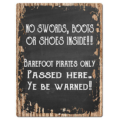 Chic Sign Home Store Wall Decor Gift PP4203 NO SWORDS BOOTS OR SHOES INSIDE!