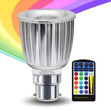 Cambio de color RGB LED Luz Bombilla 5W B22 Bombilla Luz De Control Remoto
