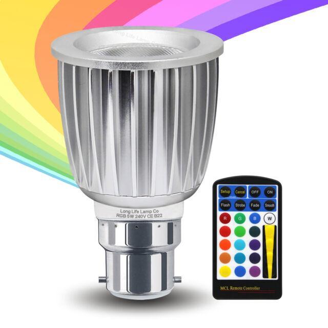 DEL RGB DEL Couleur Changeante Ampoule Contrôle à Distance 5 W Ampoule