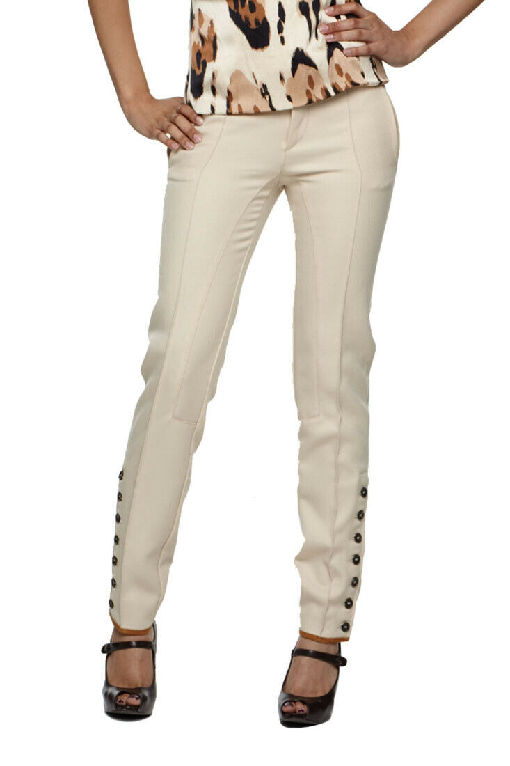 HTF  Roberto Cavalli Fitted Womens Pants Beige S40