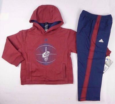 Adidas NBA Houston Rockets Toddler Boys Active fleece pants set size 2