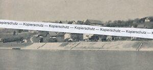Rheinweiler Bad Bellingen - Ortsansicht vom elsässischen Ufer - um 1930 .. P21-3