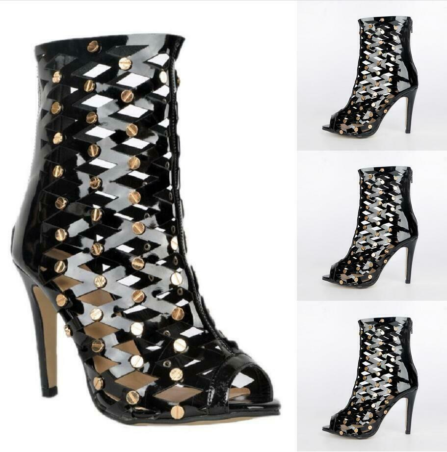 donna Sexy Hollow Out High Heels Sandals Stiletto Party Open Toe scarpe Clubwear