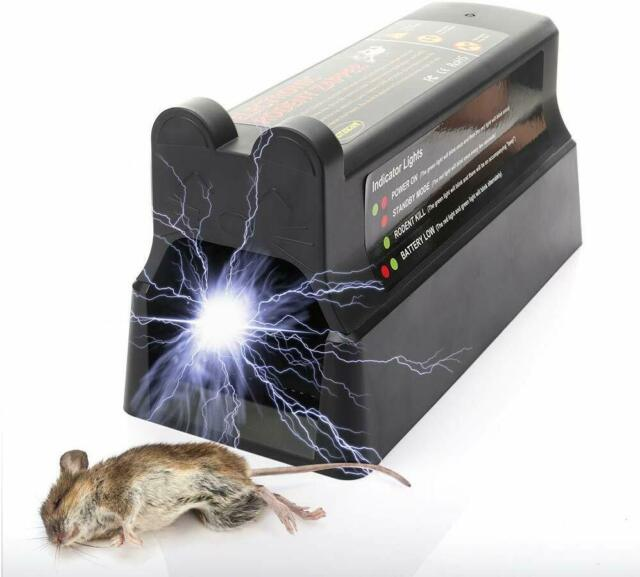 Electronic Rat Trap High Voltage Electric Shock 7000V Eliminating Squirrels Rat