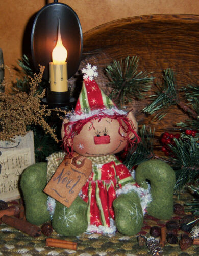 Primitive Patti/'s Ratties Raggedy Noel Elf Christmas Doll Paper Pattern 269