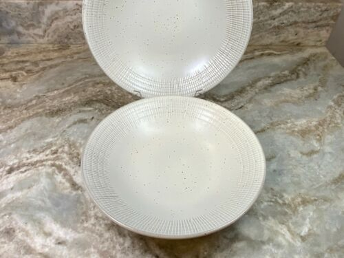 Rustic Weave Or Pacific Tide Set Of 2 New Large Pasta Bowls Blue Wash Dip Dye